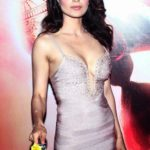Kangana Ranaut Sexy Stills at Queen Movie Success Party in A Sexy Low Cut Silver Gown_VP ( (6)