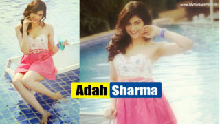 Adah Sharma –  Cute & Beautiful Actress Latest Photoshoot in Sexy Mini Pink Dress beside Pool