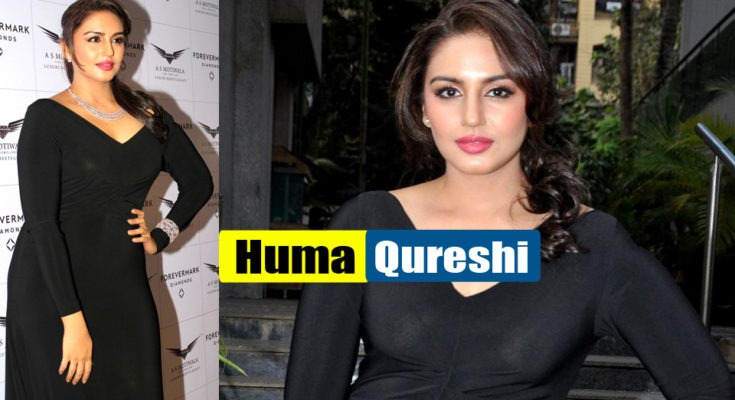 Huma Qureshi Looks Stunning at Forever Diamonds ' Event in Sexy Black Dress