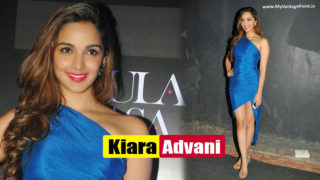 Kiara Advani Superhot Leg Show in Super Sexy Blue Gown