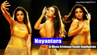 Nayantara Hot Song in Golden Dress in Movie Krishnam Vande Jagadgurum