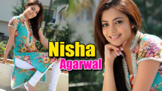 Nisha Agarwal Cute Photos in Flower Print Kurta & White Salwar