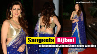 Sangeeta Bijlani at Reception of Salman Khan's sister Arpita Khan's Wedding
