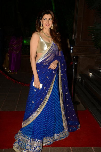 Sangeeta Bijlani in blue saree, Sangeeta Bijlani spicy photos