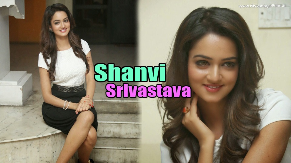 South Hot Shanvi Srivastava in Sexy Black Skirt & White Top Latest Photoshoot Stills