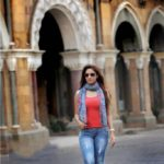 Gurleen Chopra in  Blue Jeans & Red Top