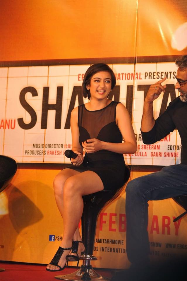 Akshara Haasan with director of the movie R. Balki (right)