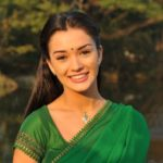 Amy Jackson in Green Saree in Movie Ai or I (2015)_VP