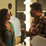 Amy Jackson in Salwar Suit Understanding A Scene from Shankar for Movie Ai or I (2015)_VP
