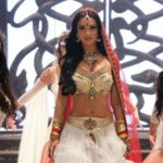 Amy Jackson in White Lenhga & Golden Blouse in Movie Ai or I (2015)_VP