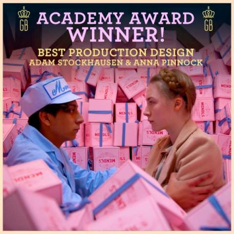 The Grand Budapest Hotel Best Production Design to Adam Stockhausen and Anna Pinnock