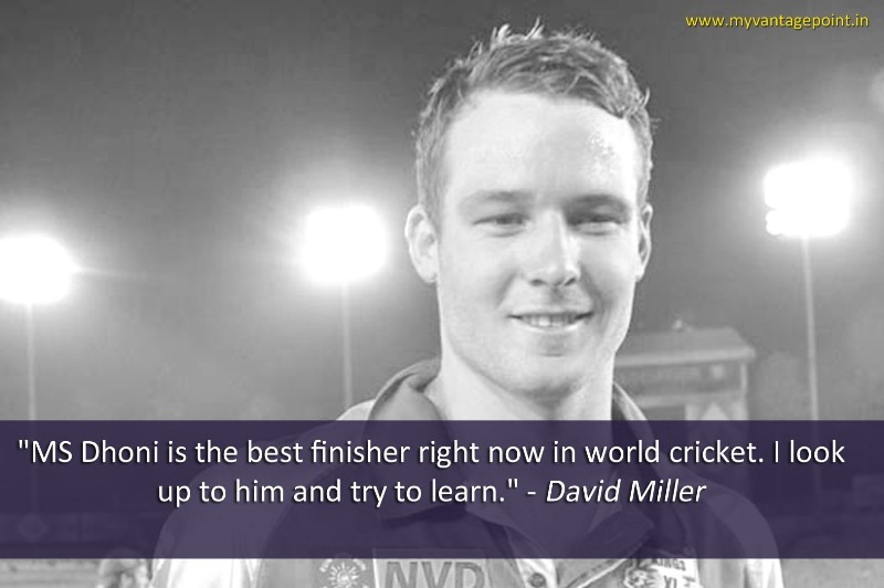 Davind Miller about ms dhoni