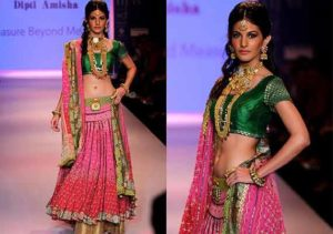 Read more about the article Amyra Dastur walk the ramp at India International Jewellery Week 2014