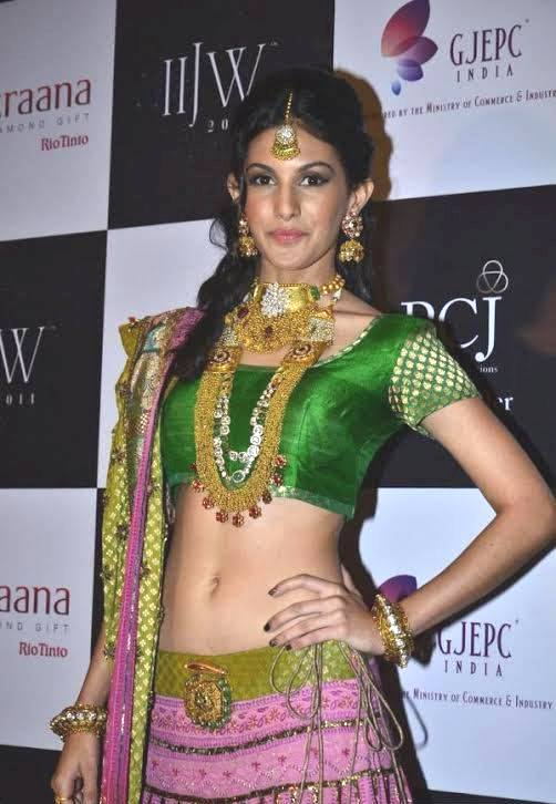 Amyra Dastur walk the ramp at India International Jewellery Week 2014 in _VP (9)