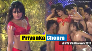Priyanka Chopra Super Hot Dance Performance at MTV VMAI Awards 2013