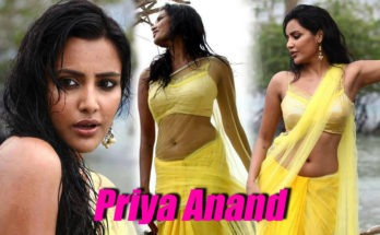 priya anand wet photos in yellow saree