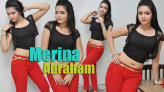 Merina Abraham – South Hottie in Superhot Red Pants & Black Top