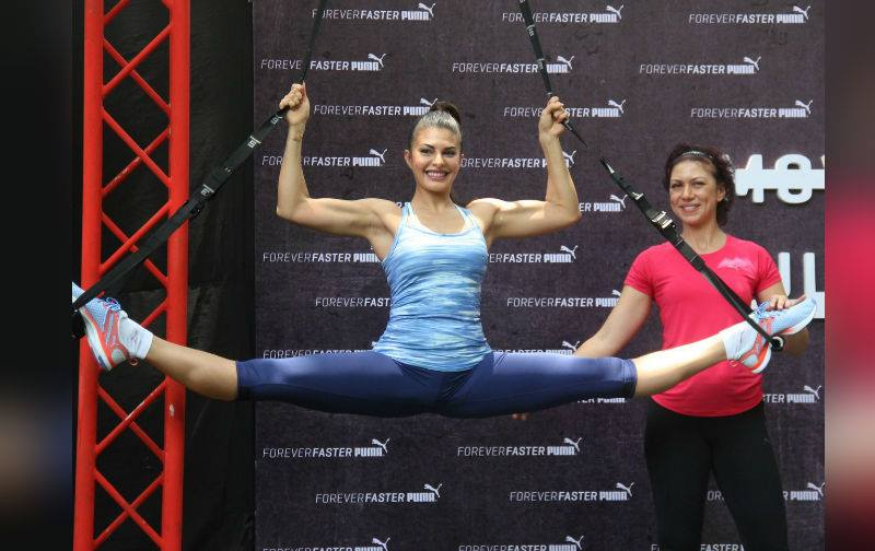 Jacqueline Fernandez in sports wear at puma event