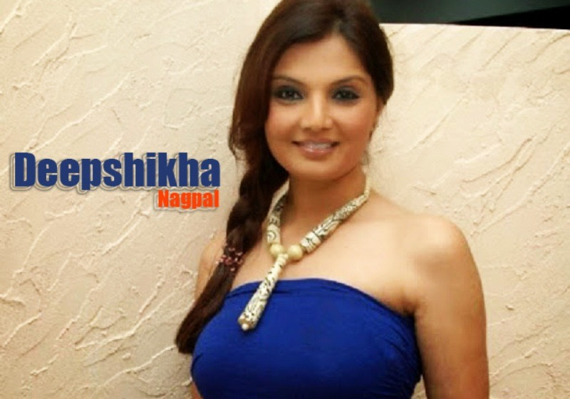 Deepshikha Nagpal in blue dress