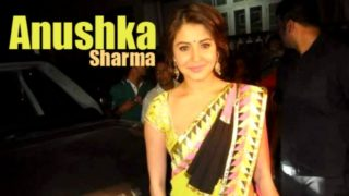 Anushka Sharma in Beautiful Designer Saree During Diwali of 2013