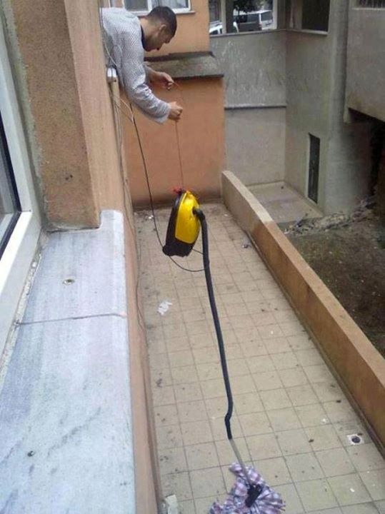 how lazy people do cleaning