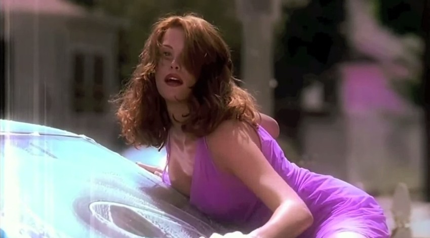 Liv Tyler in purple dress washing care, Liv Tyler hottest pic, Liv Tyler sexy car wash scene, Liv Tyler sexy wet pics