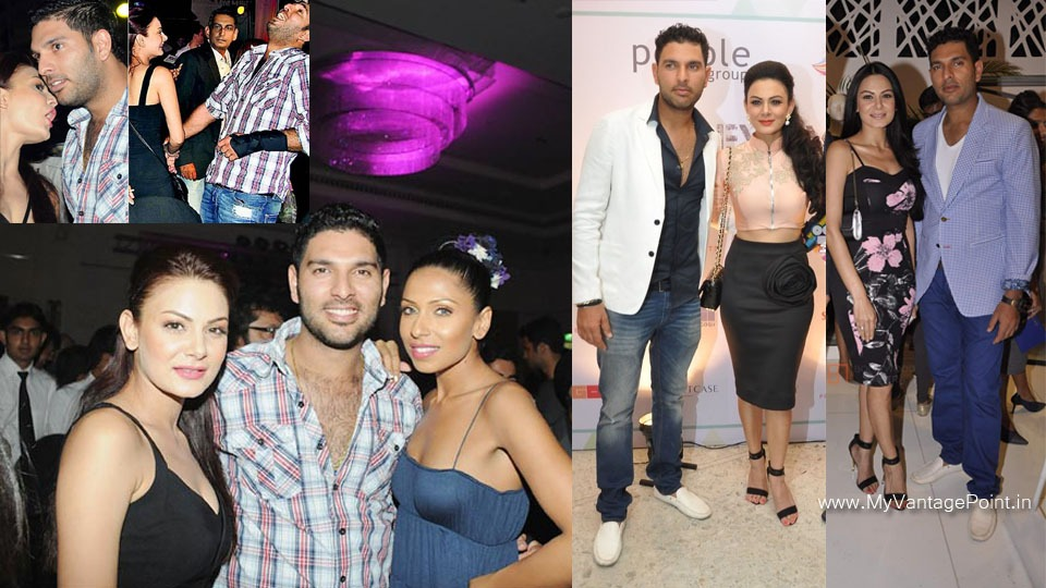 Aanchal Kumar affair with yuvraj singh, Aanchal Kumar at party, Aanchal Kumar with yuvraj singh at IPL party