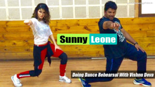 Sunny Leone Spotted Doing Dance Rehearsal With Vishnu Deva