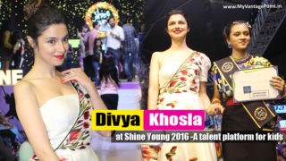 Divya Khosla Kumar walk on ramp with her son Ruhaan Kumar at Grand Finale of Shine Young 2016 – A talent platform for kids