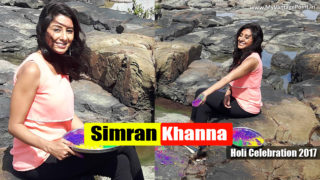 Simran Khanna celebrats Holi on the set of Zee TV show Sanyukt