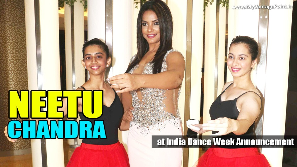 Neetu Chandra with Sandip Soparrkar at India Dance Week Announcement_Feature