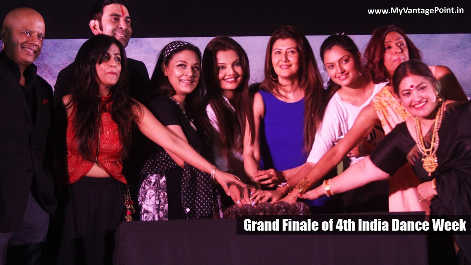 """Sangeeta Bijlani, Karan Mehra and Vinod Kambli at Grand Finale of Sandip Soparrkar's """"4th India Dance Week"""" end on a grand note The """"4th India Dance Week"""" is a vibrant celebration of Indian and World dances coming together on one single platform, this super energetic festival ended on a grand note on 30th April, 2017 at Dublin Square in Phoenix Market City, kurla. The India Dance Week is one of the largest, most active and thrilling dance competitions in the country, hosted by Internationally renowned Choreographer and dance maestro Sandip Soparrkar. This festival invites participants from across the country to celebrate dance, representing the diversity of dance forms practiced in the country. The """"4th India Dance Week"""" was graced by gorgeous actress Sangeeta Bijlani who performed on her hit track """"Oye Oye"""" from her blockbuster film Tridev and later gave away the winning trophy to the winner. The event was judged by super talented artists from the film and television world. Television heartthrob Karan Mehra, stunning Achint Kaur, Boogie Woogie man Naved Jaffery, singing sensation Shibani Kashyap, gorgeous Deepshika Nagpal, dynamic Meghna Malik and upcoming actress Ashima Sharma who gave their precious time to look at each contestant carefully. Supporting a social cause and NGO's like Smile Foundation. Actress Sharbani Mukherjee and Sandip Soparrkar's performed with the underprivileged children of Smile Foundation and later spoke of the amazing work Smile Foundation has been doing for years. While the judges performed an impromptu dance on their respective bollywood tracks. Former Cricketer Vinod Kamli made a special appearance to break tie between three contestant and sung his single track Asa Mee...Mee Asa!!! Which was received with thunderous applause. Sandip Soparrkar said, """"I am glad that 'India Dance Week' has reached such a platform that dancers from all over India come and perform varied style of dances, this year we had 30 different dance forms from 10 stat"""