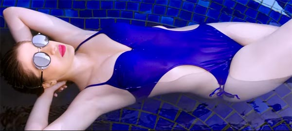 Raai Laxmi in blue bikini, Raai Laxmi julie 2 trailer, Raai Laxmi hot in julie 2, Raai Laxmi hot scene in julie 2 movie, Raai Laxmi julie 2 sexy bikini scene