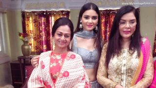 Sezal Sharma shooting with veteran actor Zeenat Aman and Zarina Wahab