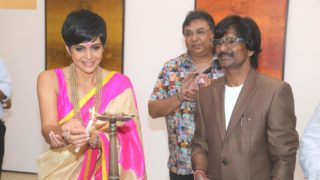 "Mandira Bedi inaugurated artist Ramesh Thorat's ""Cosmic Visionary"" Art Exhibition"