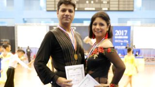 Rajeswari Vaidyanathan and Shannon Benjamin Won Gold Medal in Asia Open Latin Dance Championship
