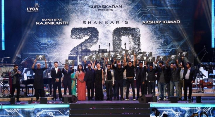 Percept Activ manages the Audio launch of movie '2.0' featuring Rajnikanth and Akshay Kumar