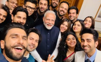 selfie of the years, selfie of bollywood star with modi