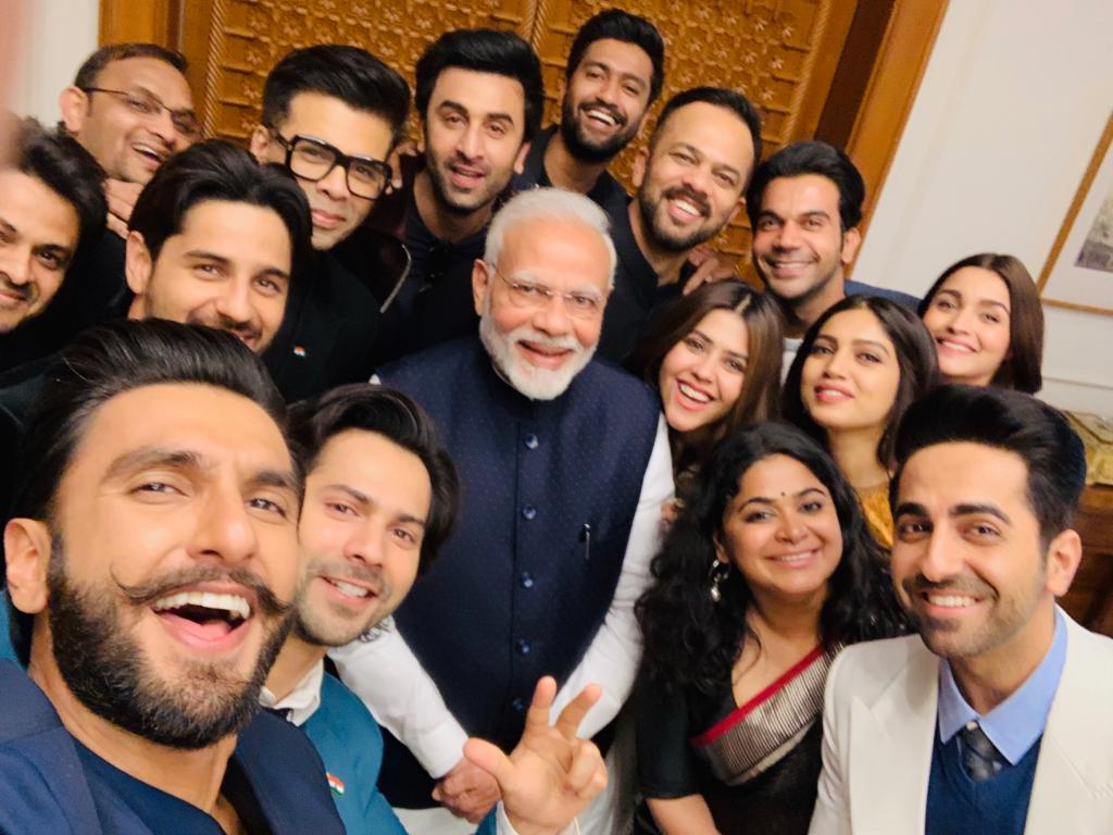 Young delegation from the indian film industry met the Honourable PM