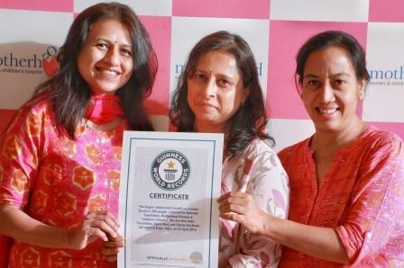 Motherhood Hospital and Spherule Foundation bags Guinness World Record certificate on Largest Menstrual hygiene awareness