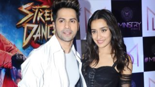 Varun Dhawan and Sharddha Kapoor celebrate the wrap up of their upcoming film Street Dancer 3D