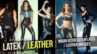Best Photos of Indian Actresses in Latex / Leather Sexy Dresses