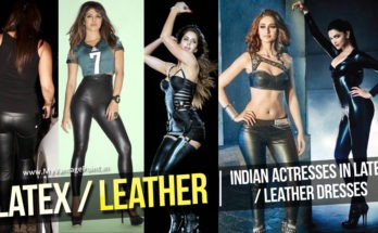 Bollywood Tollywood Actresses in Latex Dress Leather pants