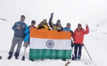Aditya Mehta Foundation & BSF Institute of Advanced Adventure Training (BIAAT) teams scaled Bhageerathi II (21365 ft), as they set themselves to a create world record