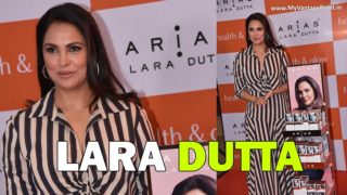 Lara Dutta unveils her skincare brand, Arias at Health and Glow, Lower Parel, Mumbai