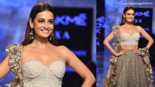 Dia Mirza Closes for Show for House of Kotwara at Lakmé Fashion Spring/ Summer'20