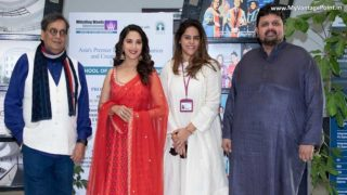 Ms. Madhuri Dixit-Nene rocked it with students of Whistling Woods International at the 5th Veda Cultural Workshop. Shared her journey with aspiring creative professionals