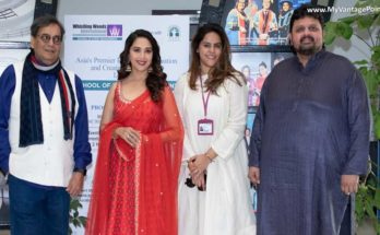 Madhuri Dixit-Nene rocked it with students of Whistling Woods International at the 5th Veda Cultural Workshop