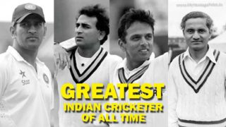 Greatest Indian Cricketer of all time