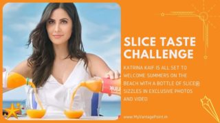 KATRINA KAIF IS ALL SET TO WELCOME SUMMERS ON THE BEACH WITH A BOTTLE OF SLICE® SIZZLES IN EXCLUSIVE PHOTOS AND VIDEO